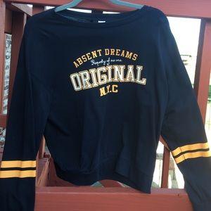 A navy H&M sweatshirt